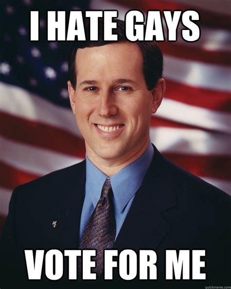 Memes De Gays - rick santorum memes quickmeme