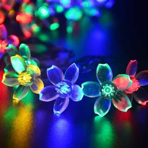 Patio Lights Flower 4m 13ft Flower String Lights Outdoor 20 Led Blossom