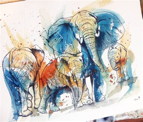 elephant family by tori ratcliffe art no 1638