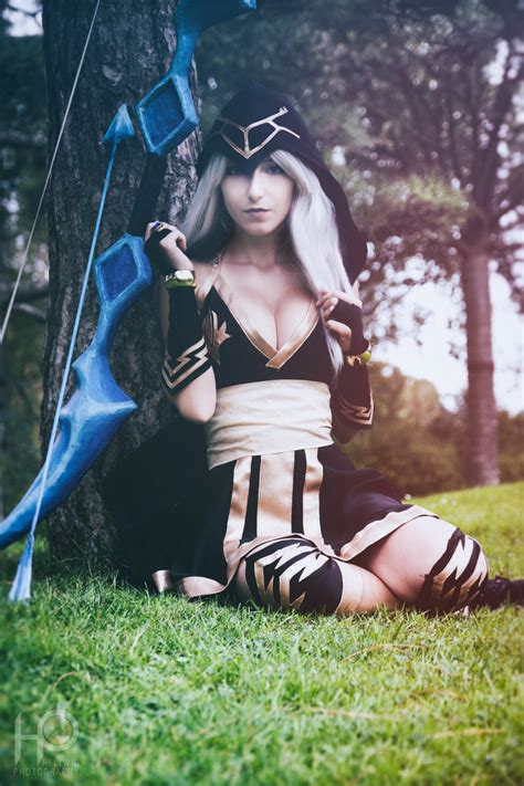 league  legends ashe sexy cosplay cosalbum