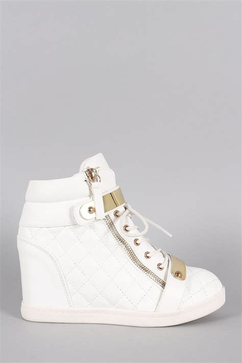 sneaker wedge heels quilted high top wedge sneaker products