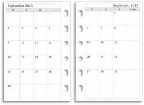a5 calendar template 7 best images of filofax monthly calendar printable free
