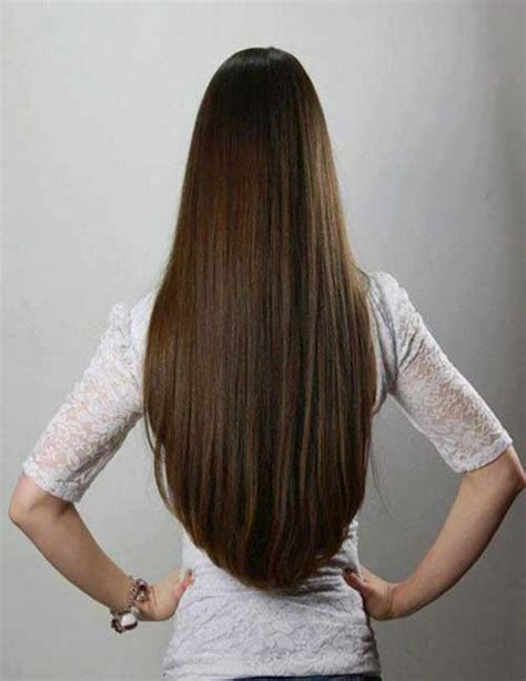 how to cut hair straight across in back straight long hair back view hair pinterest straight