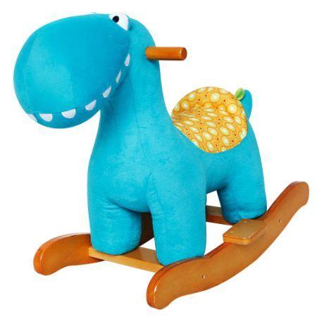 dinosaur car seat toddler shop for labebe baby wooden rocking blue dinosaur