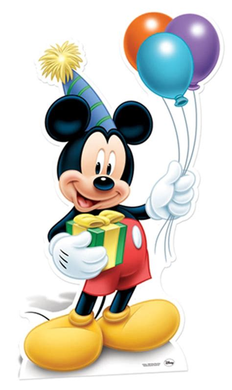 How Can I Decorate My Home Mickey Mouse Holding Balloons Party Lifesize Cardboard