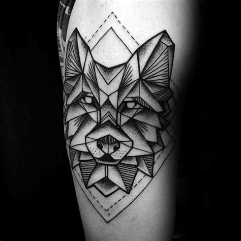 63 wonderful geometric wolf tattoo designs and ideas about