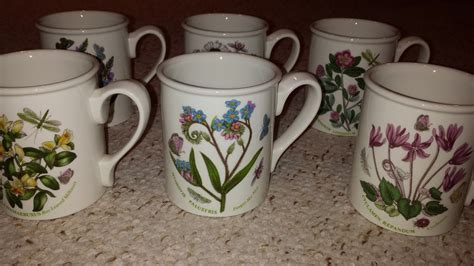 portmeirion botanic garden breakfast mug 9 oz set 6