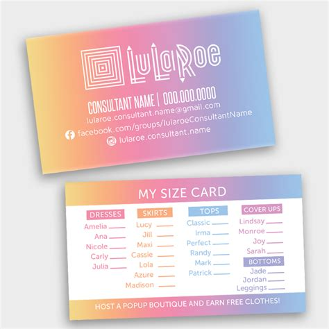 lularoe business card template lularoe 2 5 x 3 5 thank you care card chalkboard