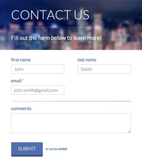 contact form template top 30 free html5 css3 contact form templates 2018