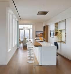 White kitchen breakfast bar yorkville penthouse ii in toronto 1200