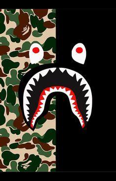 Iphone 8 Plus Bape Shark Camo Pattern Hardcas shark black bape camo wallpaper shark camo and wallpaper