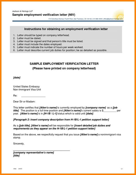 Employment Letter Canadavisa 9 Exle Of Employment Verification Letter Farmer Resume