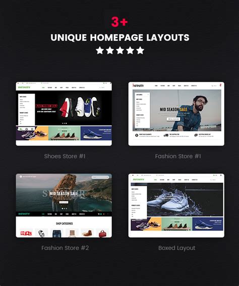 layout homepage magento infinity responsive magento 2 fashion store theme by