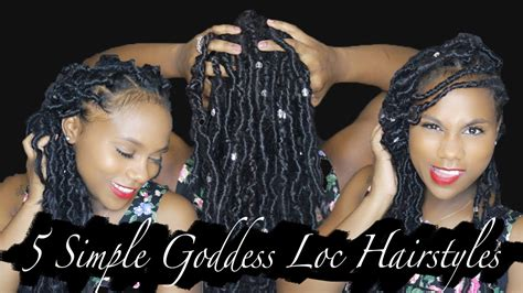 5 simple hairstyles w goddess locs shardel haden youtube