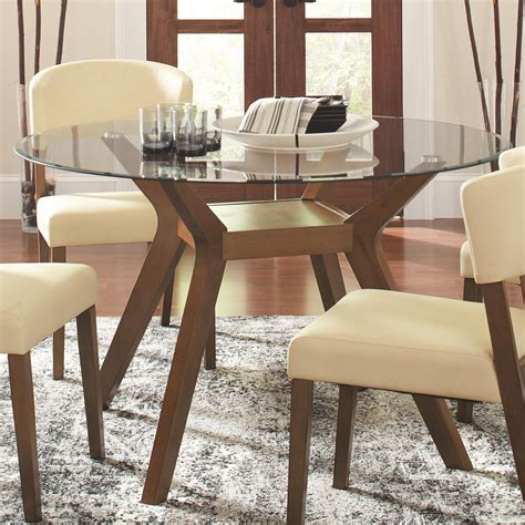 glass table and chairs paxton glass dining table from coaster 122180