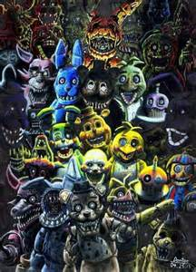 All fnaf animatronics iname five nights at freddy s five nights at