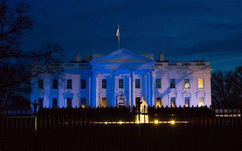 white house blue as white house goes blue trump cure comment draws backlash disability scoop