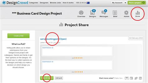 designcrowd questions how do i create and use the voting poll designcrowd
