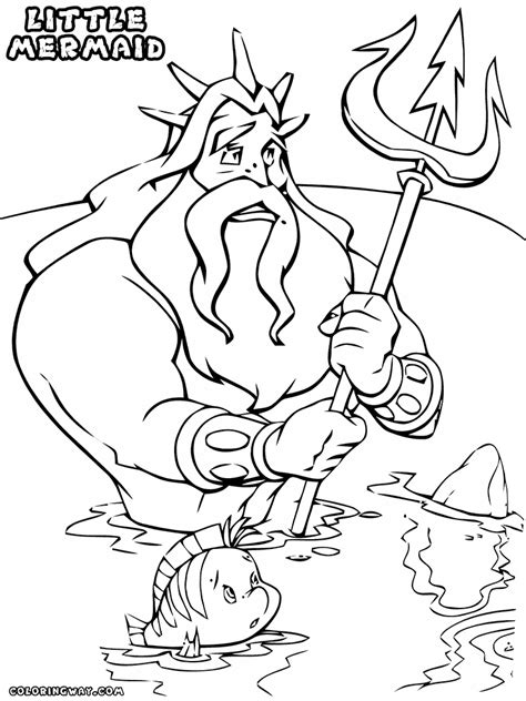 little mermaid king triton coloring pages little mermaid king triton coloring coloring pages