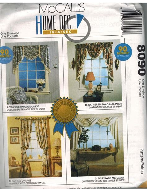8090 vintage mccalls sewing pattern home decor
