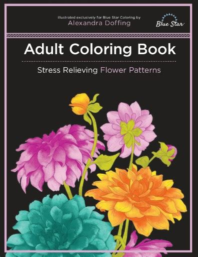 coloring book subscription coloring book stress relieving flower patterns