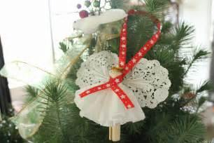 engel dekoration clothespin ornament craft