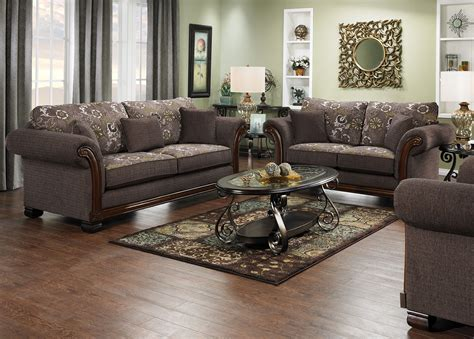 Chenille Living Room Furniture Hazel Chenille Sofa And Loveseat Quartz Freedom Rent To Own