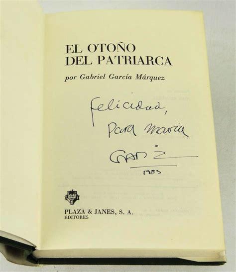el otoo del patriarca el otono del patriarca gabriel garcia marquez first edition