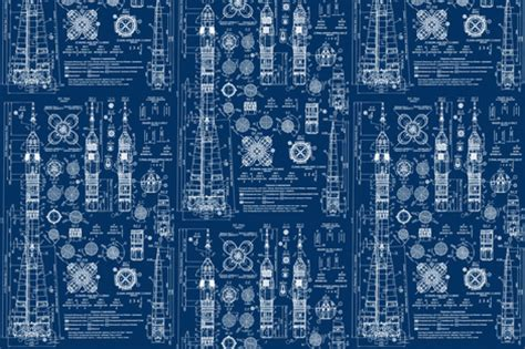 architecture blueprint wallpaper www pixshark com soyuz blueprint fabric sharksvspenguins spoonflower