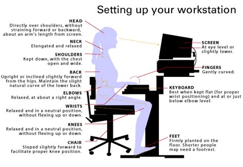 Ergonomic Desk Setup The Gallery For Gt Ergonomic Desk Diagram