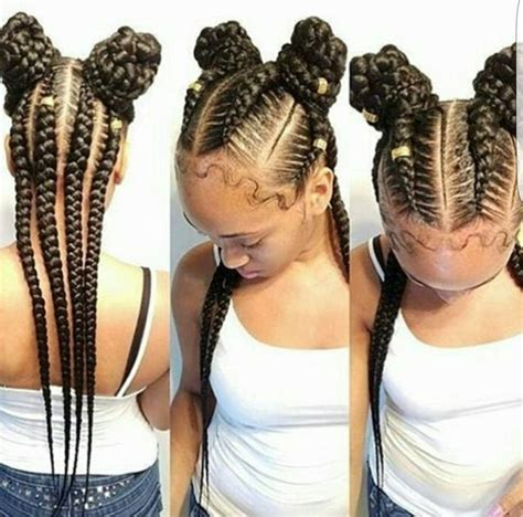 Photos: Cute Cornrow Ponytails,   BLACK HAIRSTLE PICTURE