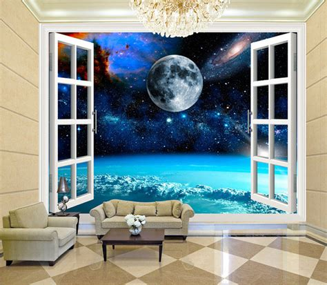 living room wall murals aliexpress com buy charming galaxy wallpaper