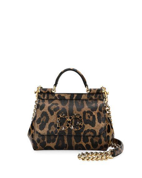 Dolce And Gabbana Leopard Print Mini Handbag by Dolce Gabbana Sicily Mini Shoulder Bag Leopard Neiman
