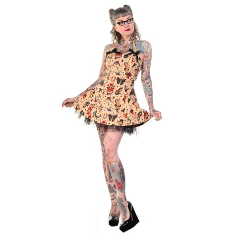 tattoo girl clothing uk banned tattoo print rockabilly 50s vintage pinup party