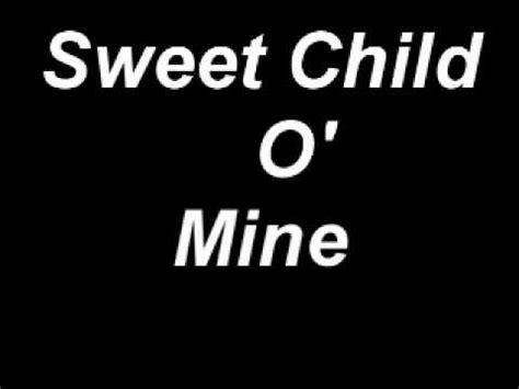 testo e traduzione sweet child o mine sweet child of mine lyrics buzzpls