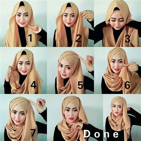 tutorial hijab segi empat simple dan modis 17 kreasi model hijab segi empat simple modern 2018 terbaik