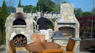 Charcoal Fire Pit Grill - outdoor stone fireplace with pizza oven fireplace design ideas