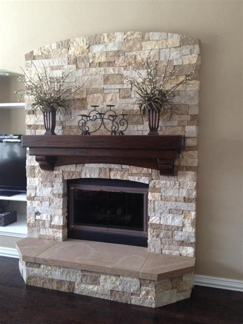 cobblestone fireplace best 10 stacked stone fireplaces ideas on pinterest