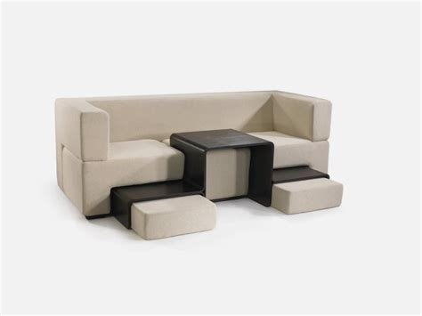 Sofa With Coffee Table Modular Sofa Coffee Table And Footrest In One Furniture