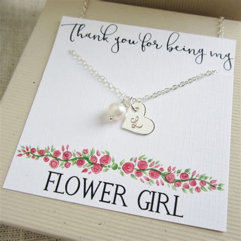 etsy gifts personalized flower gift flower necklace with