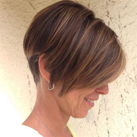 short pixie cut caramel short hair highlights with caramel color