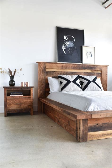 reclaimed wood platform bed frame reclaimed wood bed frames www pixshark images