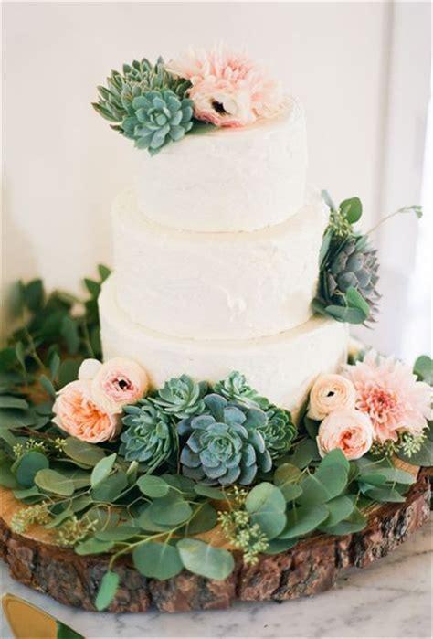 Wedding Cake With Succulents by 20 Succulent Wedding Cake Inspiration That Wow
