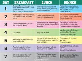 Diet chart to lose 20 lbs in 2 days