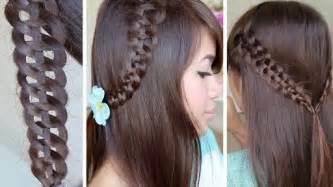 How to do a 4 strand braid hairstyle for medium long hair diy tutorial