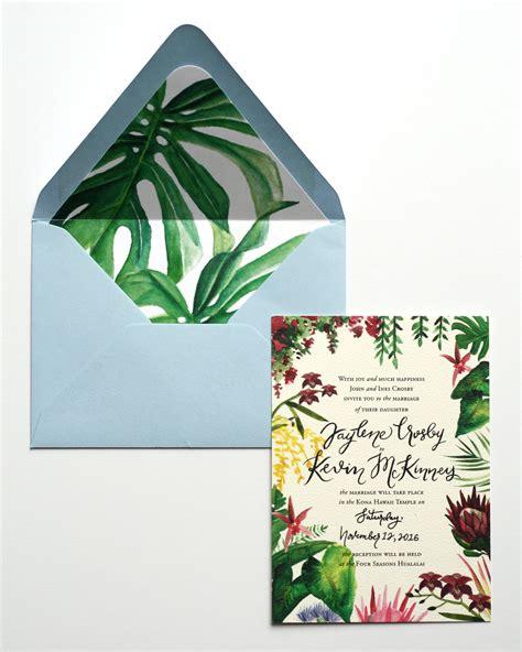 Hawaiian Wedding Invitations by Illustrated Tropical Hawaiian Wedding Invitations