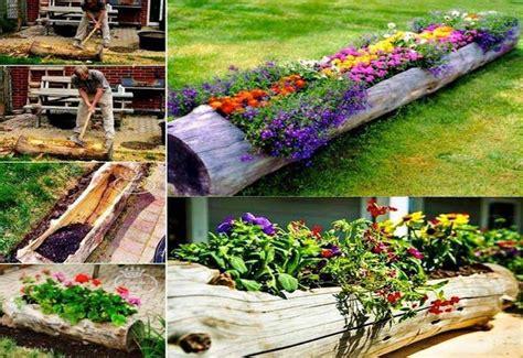 Log Planter Ideas by 15 Ingenious Diy Garden Planters For A Versatile Garden