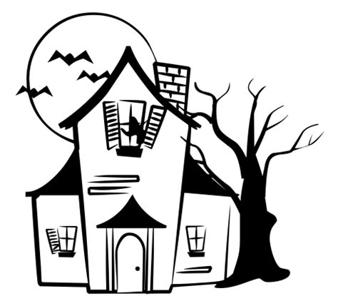 haunted house clipart haunted house clipart outline clipartxtras