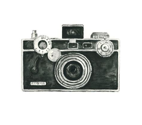 vintage camera home decor vintage camera watercolor giclee art print argus