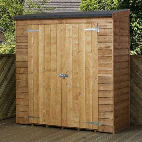 westport  ft    ft  overlap pent wooden shed